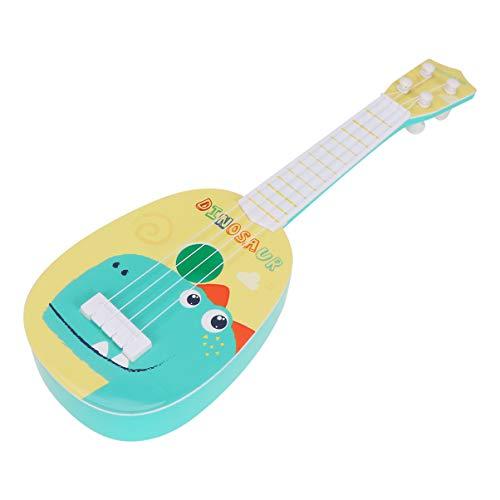 Milisten Kinder Kunststoff-Ukulele, Gitarre, Spielzeug, 4 Saiten, Dinosaurier-Muster, Kleinkinder,...