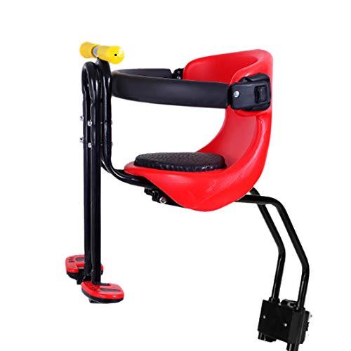 Haunen Kindersattel Fahrrad Vorne, Fahrrad Kindersitz, Faltbare Fahrrad-Vordersitz Kindersitz Pedal mit...