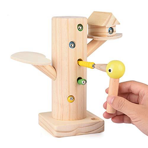 Montessori Spielzeug: Specht fängt Raupen