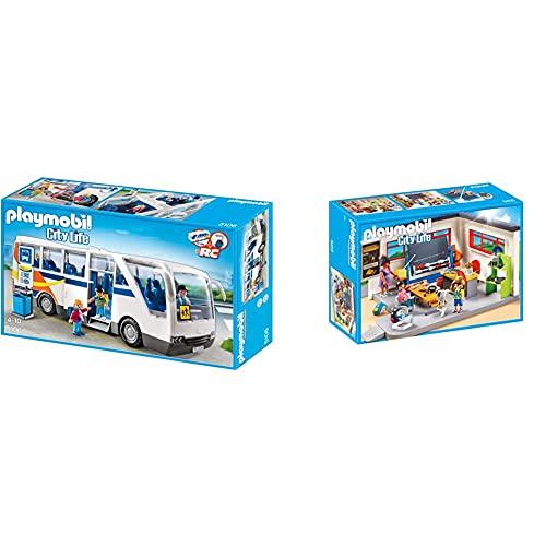 PLAYMOBIL City Life 5106 Schulbus, ab 4 Jahren [Exklusiv bei Amazon] & PLAYMOBIL City Life 9455...
