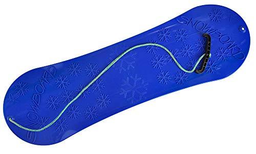 MARMAT Snowboard FÜR Kinder Schlitten Board 77cm Kunststoff mit Seilgriff Plastik (Blau)
