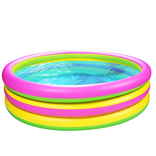 Joyjoz Kinder Planschbecken 150cm Gartenpool Aufblasbare Pool Kinder Schwimmbad Kinderpool Babypool...