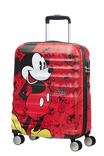 American Tourister Wavebreaker Disney - Spinner S Handgepäck, 55 cm, 36 L, Rot (Mickey Comics Red)