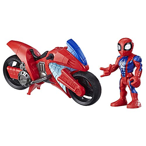 Hasbro E7929ES0 Playskool Heroes Marvel Super Hero Adventures Spider-Man Swingin' Speeder, 12,5 cm Figur...