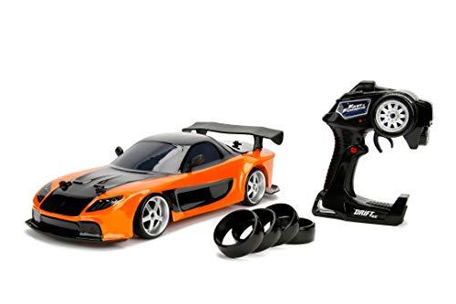 Jada Toys Fast & Furious RC Drift Mazda RX-7, RC Auto, ferngesteuertes Auto mit Funkfernsteuerung,...