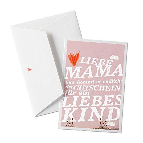 Muttertagskarte: Gutschein für liebes Kind, lustige Glückwunschkarte zum Muttertag, Design auf...