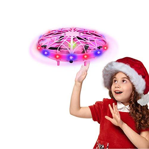 UTTORA UFO Mini Drohne für Kinder,RC Fliegender Ball Spielzeug Wiederaufladbare Infrarot Induktions...