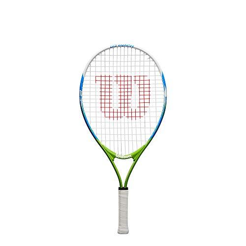 Wilson US Open 23, WRT20320U Racket Tennis Unisex Kinder, Blau/Gelb, Kindergröße: 115 bis 130 cm