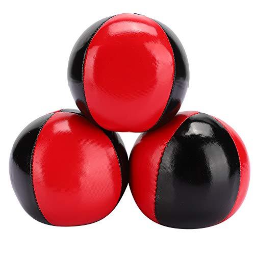 Jonglierball 3 PCS, tragbarer Jonglierball Rot Schwarz Leder Jonglierball Indoor Spiel Jonglierball für...