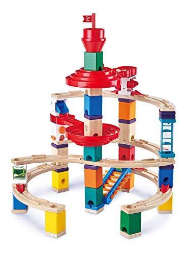 Hape E6024 - Super-Spiralburg, Quadrilla Kugelbahn, Konstruktionsspielzeug mit umfangreichem Zubehör,...