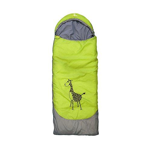 outdoorer Kinderschlafsack Dream Express Grün - Kinderschlafsack aus Baumwolle mit Funktion als...