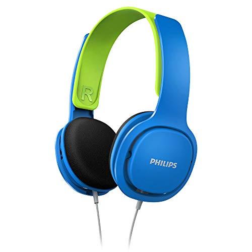 Philips Kinderkopfhörer SHK2000BL/00 Kinderkopfhörer On Ear (Lautstärkebegrenzung 85 db, Ergonomischer...