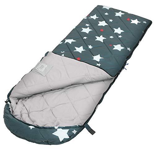 SONGMICS Schlafsack, Kinderschlafsack für Camping, kompakt, grün GSB20WJ
