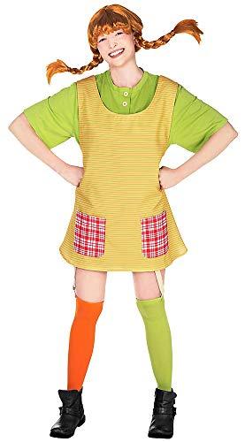 Maskworld Pippi Langstrumpf - Original Filmkostüm für Erwachsene 4teilig - gelb/grün (Large)