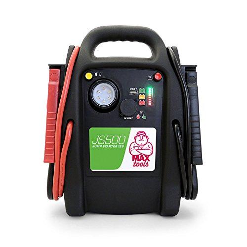MAXTOOLS JS500 Batterienotstarter für Autos und Transporter, 2200A 22Ah, für Diesel-Benzinmotoren,...