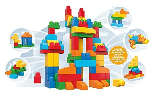 Mattel Mega Bloks CNM43 Bausteinebeutel Deluxe, 150 Teile, grundfarben [Exklusiv bei Amazon]