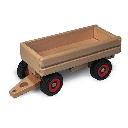 Fagus 10.46, Holzspielzeug - Ziehspielzeug (Holz, Junge / Mädchen, 4 Räder, Schwarz, Rot, 330 mm)