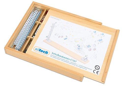 eitech - Metallbaukasten über 527 Teile in einer Holzbox, inkl. Bauanleitungen