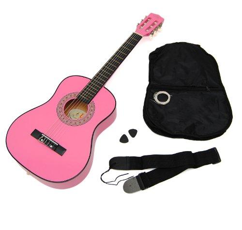 Ts-Ideen 5251 Kindergitarre 1/4 Akustik Gitarre für circa 4-7 Jahre mit Tasche und Gurt/Saiten/Plek...
