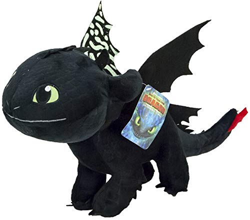 Toothless Night Fury 40cm Drachenzähmen leicht gemacht 3 Schwarz Plsch Films How to Tran Your Dragon 3...
