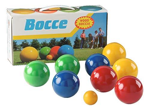 Sport-Thieme Boccia-Spiel mit lackierten Holzkugeln | Boule-Set aus 8 Kugeln, Zielkugel und Tragebox |...