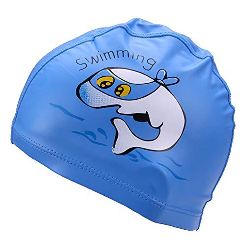 Runuo Kinder Schwimmhut,Atmungsaktive Kinder-Haarpflege-Gehörschutz-Badekappe mit PU-Beschichtung...