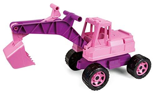 Lena 02137 - Starke Riesen Bagger für Mädchen, rosa, ca. 80 cm, großer Schaufelbagger mit solider...