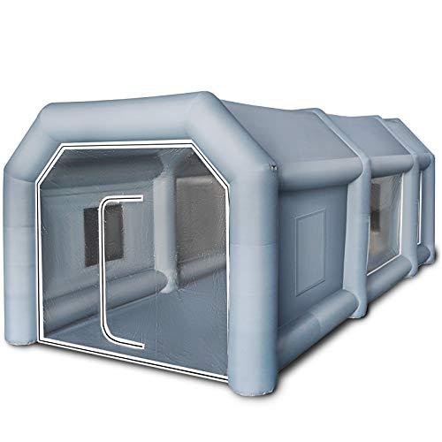 Husuper 6*3*2.5m Aufblasbares Lackierkabine Zelt Spray Booth Tent Zelt Luftzelt Campingzelt Lackierkabine...