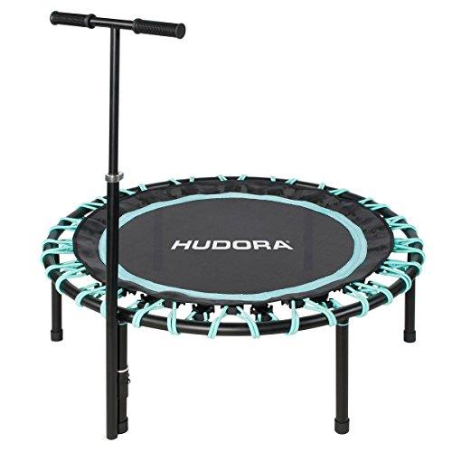 HUDORA Trampolin Sky 110cm Fitnessgerät, schwarz/türkis