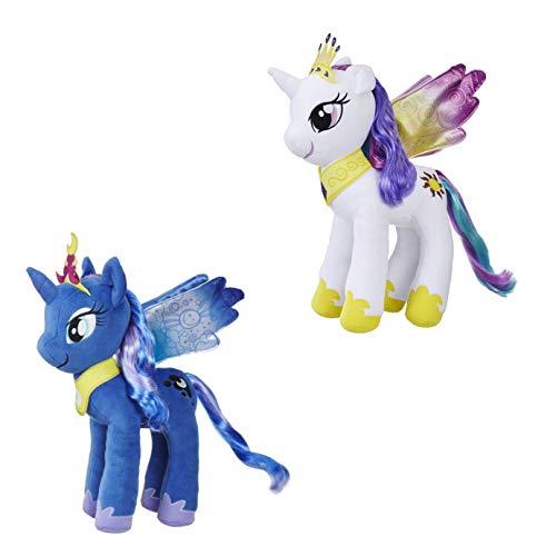 Spielotopia My Little Pony E0429ES0 Mähnenspaß Plüsch Prinzessin Celestia und E0430 Prinzessin Luna,...