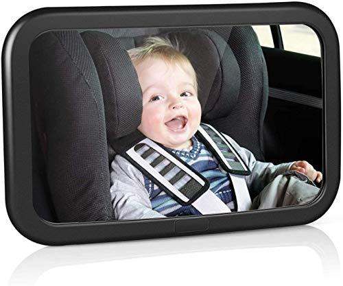 amzdeal Rücksitzspiegel für Babys, bruchsicherer Spiegel für Auto Baby mit großem Sichtfeld,...