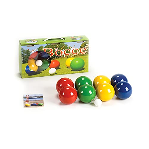 Londero Boccia-Spiel mit lackierten Holzkugeln   Boule-Set aus 8 Kugeln, Zielkugel und Tragebox   Gewicht...