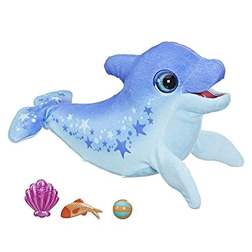 Hasbro furReal Dimples, Mein lustiger Delfin, 80+ Geräusche und Reaktionen, interaktives Spielzeug,...