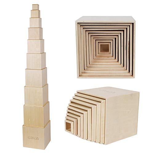 Stapelturm aus Holz nach Montessori