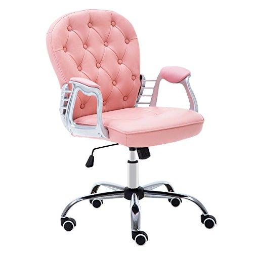 JL Comfurni Bürostuhl Drehstuhl Ergonomisch Schreibtischstuhl höhenverstellbar 360°drehbar...