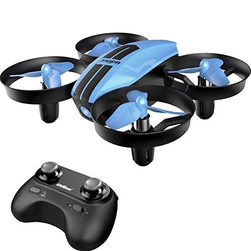 SANROCK U46 Mini Drohne für Kinder und Anfänger, RC Quadrocopter mit Blaue LED, Mini Helikopter mit...