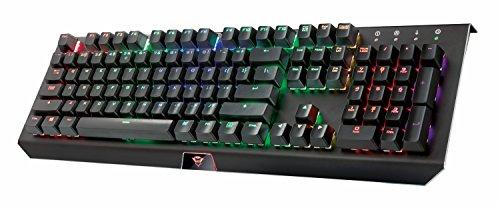 Trust Cada GXT 890 Mechanische RGB Gaming Tastatur (QWERTZ, deutsches Layout, Multi Color RGB...