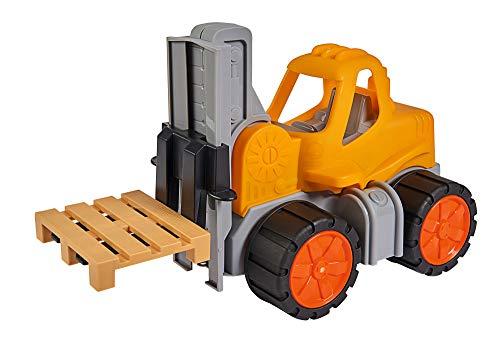 BIG - Power-Worker Gabelstapler - Spielzeug Auto ideal für Unterwegs, Reifen aus Softmaterial,...