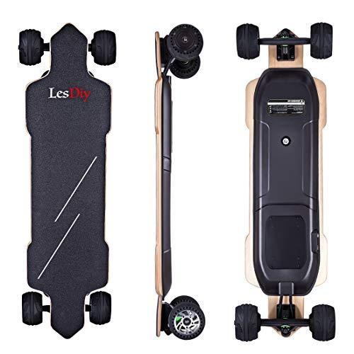 LesDiy Elektro Longboard E-Longboard 4 Leistungsstufen 50km Höchstgeschwindigkeit 30km Arbeitsweg für...