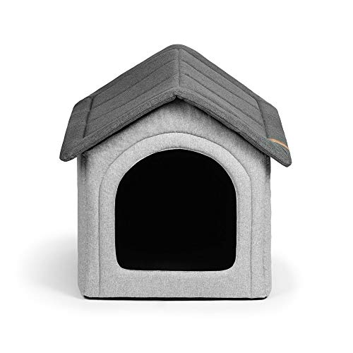R Rexproduct Home Premium Hundehütte Hundehaus Tierhaus Flattbar Wasserfest Kratzfest Grau-Melange XXL...