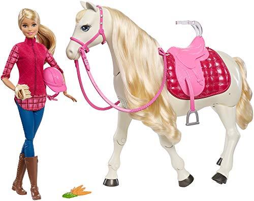 Barbie FRV36 - Traumpferd und Puppe, laufendes und tanzendes Pferd mit Berührungs- und...