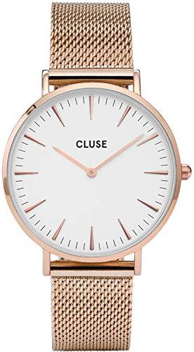 Cluse Damen Armbanduhr Analog Quarz Edelstahl CL18112
