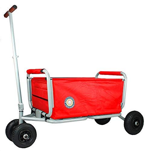 Beachtrekker Life Faltbarer Bollerwagen + Feststellbremse, klappbarer Handwagen (Rot)
