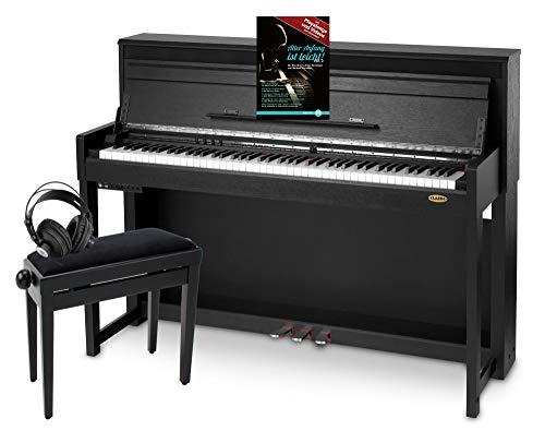 Classic Cantabile UP-1 SM E-Piano Deluxe Set (inklusive Pianobank, Kopfhörer und Klavierschule,...