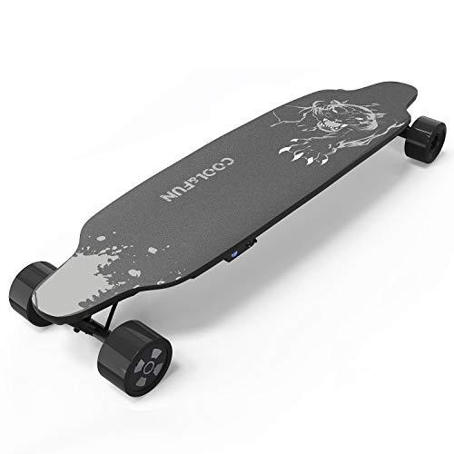 NEOMOTION Elektro Skateboard mit Fernbedienung 4 Rad Board mit langlebiger Batterie, Leistungsstarker...