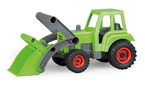 Lena 4006942792306 4213 EcoAktives Traktor mit Frontlader, Nutzfahrzeug ca. 35 cm, robuster grüner...