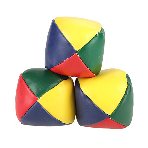 ViaGasaFamido Jonglierbälle, Leder, runde Spielspiel-Bälle, langlebig, Kinder, Jonglier-Ball-Set,...