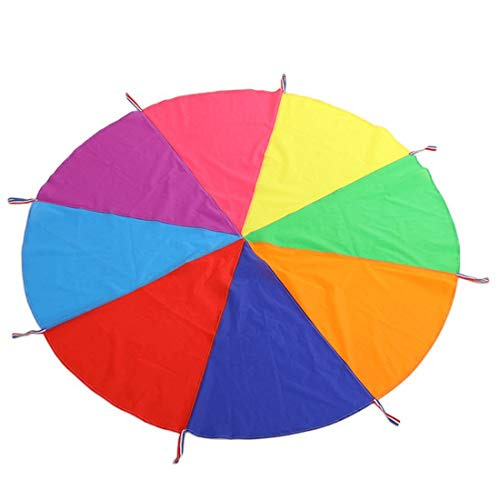 Boosns Schwungtuch Fallschirm Spielzeug Bunt Fallschirm Parachutes Spielzeug ideale Aktivität in...