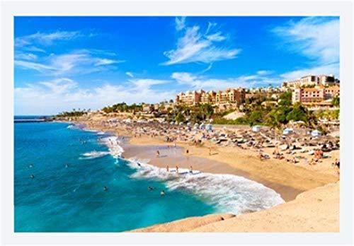 Puzzle Für Erwachsene 1000 Teile Sommerurlaub Am Strand Von EL Duque In Teneriffa Berühmten Küste Von...