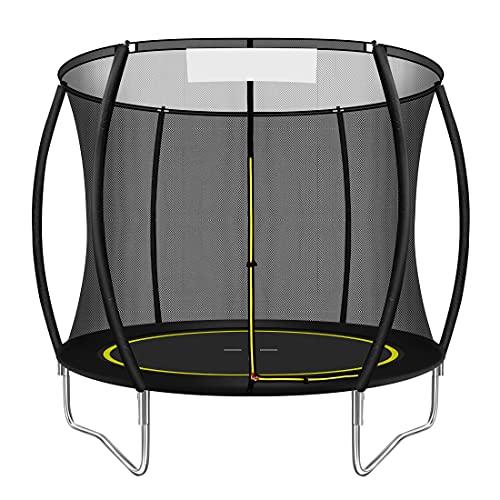 Trampolin.One Gartentrampolin, Outdoor Trampolin, Kindertrampolin, Ø 244 cm, innovatives Elastik...